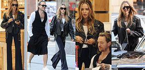 Rockowa Maja Sablewska z torebką Chanel za 25 tysięcy i Wojciech Mazolewski w fantazyjnych spodniach pędzą na shopping (ZDJĘCIA)