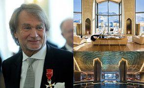 """""""Alpejski pałac"""" Kulczyka wystawiony za... 185 MILIONÓW DOLARÓW! """"Ściany pokryte futrem z norek, kaszmirem i 24-karatowym złotem"""" (ZDJĘCIA)"""