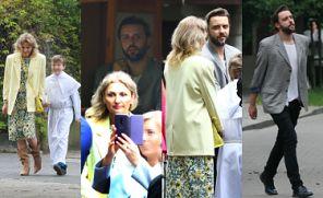 Świeżo rozwiedzeni Reni Jusis i Tomek Makowiecki odprowadzają syna na komunię (ZDJĘCIA)