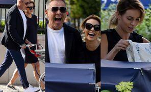 Tryskająca szczęściem Izabela Janachowska w trampkach za 3,5 tysiąca pcha wózek za 19 tysięcy złotych (ZDJĘCIA)