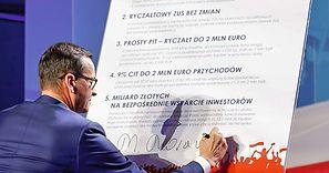 """Konferencja premiera Mateusza Morawieckiego. Zapowiedział """"świetne wieści dla przedsiębiorców"""""""