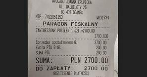 Paragon z Gdańska. Właścicieli restauracji zatkało. Tyle wydał jedne z klientów