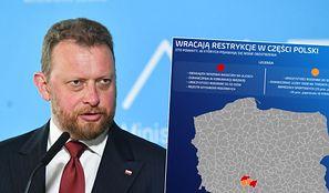 Koronawirus. Polska podzielona na strefy czerwonej i żółte. Wraca szereg restrykcji - oto lista