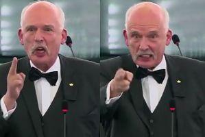 """Korwin-Mikke w Parlamencie Europejskim: """"Demokracji nienawidzę! Unia musi być zniszczona"""""""