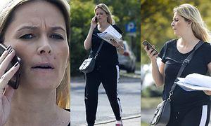 Zaaferowana Odeta Moro załatwia sprawy na mieście dwa tygodnie po porodzie