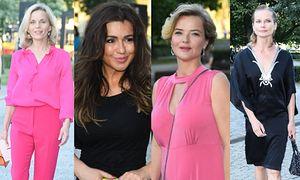 Spęd celebrytów na rozdaniu Kryształowych Zwierciadeł: różowa Foremniak, czarna Tadla i dekolt Cieleckiej