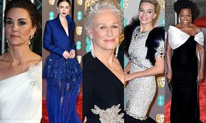 BAFTA 2019: anielska księżna Kate, elegancka Glenn Close, ekstrawagancka Margot Robbie