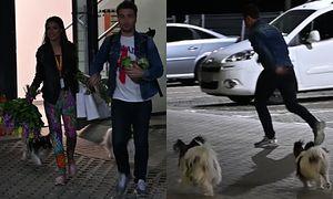 Jan Kliment biega z psami w oczekiwaniu na żonę