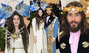 Lana Del Rey w skrzydlatej aureoli i Jared Leto jako Jezus