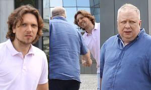 Żora Korolyov i Marek Sierocki plotkują pod studiem TVP