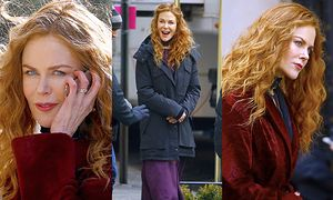 Rudowłosa Nicole Kidman zachwyca na planie nowego filmu