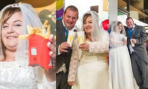 Tak wyglądało pierwsze brytyjskie wesele w... McDonaldzie! (ZDJĘCIA)