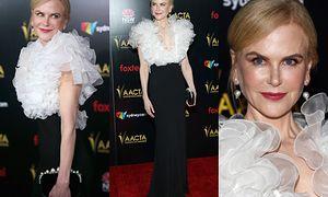 Naciągnięta Nicole Kidman w kreacji Miu Miu triumfuje na gali AACTA International Awards