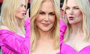 Nieruchoma twarz Nicole Kidman posyła buziaczki z festiwalu filmowego... (ZDJĘCIA)