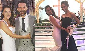 Ślubną suknię Evy Longorii zaprojektowała Victoria Beckham! (ZDJĘCIA)