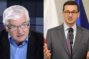 """Cimoszewicz atakuje Morawieckiego: """"Szef rządu powinien być szefem rządu, a nie POPYCHADŁEM"""""""