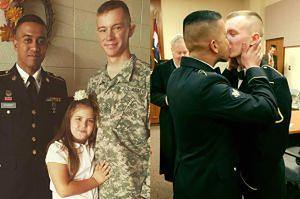 Amerykańscy żołnierze-geje pochwalili się ślubnym pocałunkiem! (FOTO)