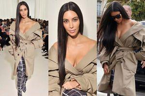 """Kim Kardashian bez stanika na pokazie: """"Dzisiaj bez makijażu!"""""""