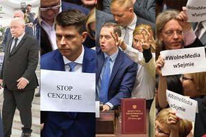 Posłowie opozycji blokowali mównicę w Sejmie (ZDJĘCIA)