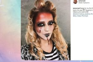 Jessica Mercedes prawie jak zombie