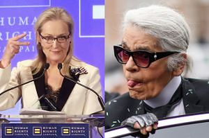 """Lagerfeld oskarża Streep o wyłudzenie pieniędzy! """"Genialna aktorka, szkoda, że tania!"""""""