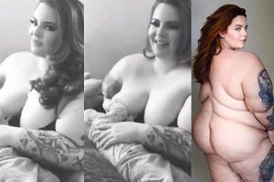 Modelka XXL karmi dziecko piersią na Instagramie!