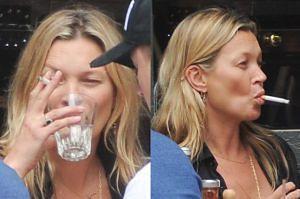 Kate Moss bez makijażu i z papierosem w ustach! (ZDJĘCIA)