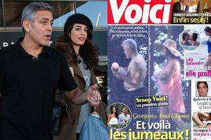 Paparazzi sforsowali bramę domu Clooneya i zrobili zdjęcia bliźniakom!