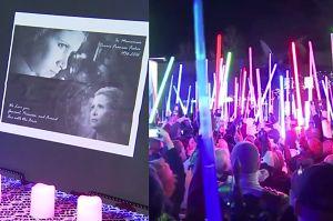 Setki mieczy świetlnych zabłysnęło ku pamięci Carrie Fisher