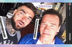 """Daniel """"Majonez"""" Majewski narzuca się Schwarzeneggerowi"""