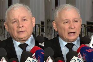 """Kaczyński: """"Donald Tusk nie będzie już mógł funkcjonować z biało-czerwoną flagą"""""""