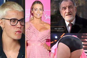 """ZDJĘCIA TYGODNIA: pierś """"Barbie"""" Rozenek, majtki Gwit na parkiecie i pryszcze Justina Biebera (ZDJĘCIA)"""