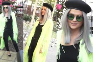 Margaret w zielonych frędzlach i berecie promuje festiwal w Sopocie