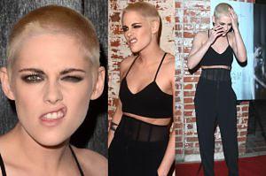 """Niemal łysa Kristen Stewart robi """"seksowną"""" minę na premierze (ZDJĘCIA)"""