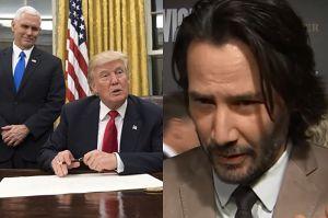 """Keanu Reeves o pierwszych decyzjach Trumpa: """"To jest po prostu okropne. Pomyślmy i zareagujmy"""""""