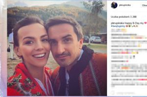 Paulina Krupińska i Sebastian Karpiel-Bułecka w góralskich strojach