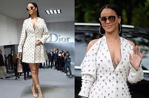 Rihanna w białej sukience na Tygodniu Mody w Paryżu (ZDJĘCIA)