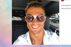 Wesoły Cristiano Ronaldo na nowym selfie