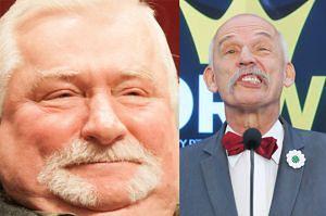 """Korwin-Mikke poniża Wałęsę: """"Bredzi bez składu i ładu. Dyzma przy nim to tytan intelektu"""""""