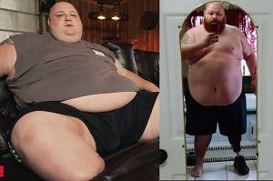 """PUDELEK EXCLUSIVE: Po amputacji stopy zmaga się z ogromną nadwagą. """"Podjąłem niewłaściwą decyzję"""""""