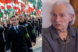 """82-latek, który został brutalnie usunięty przez policję, o marszu ONR: """"Przypominałem sobie jak kiedyś chodzili Hitlerjugend"""""""