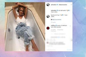 Celine Dion wyleguje się w wannie bez wody