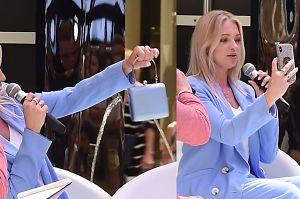 Barbara Kurdej-Szatan upycha telefon do luksusowej torebki