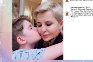Joanna Racewicz docenia syna