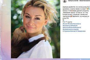 """Martyna z """"buziakiem"""" od leniwca"""
