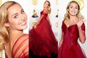 """Miley Cyrus """"JAK KSIĘŻNICZKA"""" pozuje na rozdaniu Grammy (ZDJĘCIA)"""