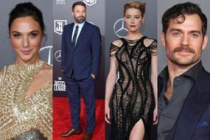 """Gal Gadot, Henry Cavill, Ben Affleck i noga Amber Heard na światowej premierze """"Ligi sprawiedliwości"""" (ZDJĘCIA)"""