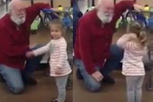 Dziewczynka pomyliła w sklepie mężczyznę ze świętym Mikołajem!