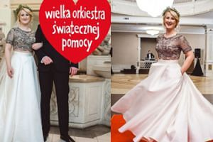 """Ania ze """"Ślubu od pierwszego wejrzenia"""" przekazała na WOŚP swoją suknię ślubną! Zasłoniła Grzegorza serduszkiem..."""