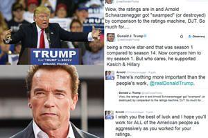"""Trump wyśmiewa oglądalność Schwarzeneggera: """"ZOSTAŁ ZNISZCZONY w porównaniu z buldożerem rankingów, Donaldem J. Trumpem!"""""""